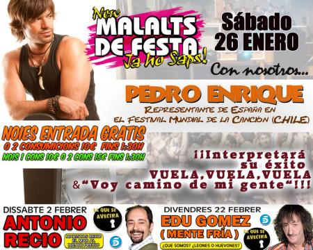 Pedro Enrique cantara en malalts de festa IMAGEN