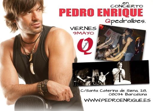 Imagen de pedro enrique en concierto barcelona