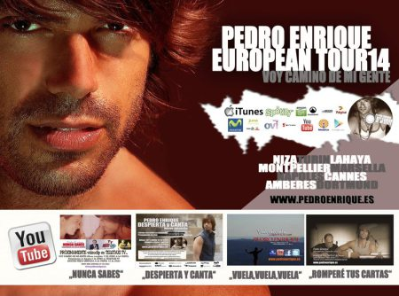 Pedro Enrique cartel Gira europea 2014
